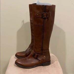 Aldo knee high leather boots in brown size 38